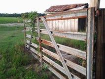 Il bestiame gate a sinistra aperto fotografie stock libere da diritti