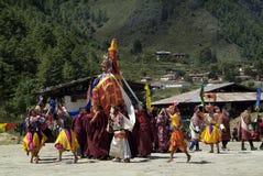 Il Bhutan, Haa, Tshechu, fotografia stock libera da diritti