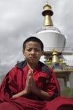 Il Bhutan - rane pescarici buddisti Immagini Stock Libere da Diritti