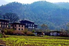 Il Bhutan rurale Fotografia Stock Libera da Diritti
