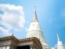 Il bianco del tempio di Prayun è bello immagine stock libera da diritti