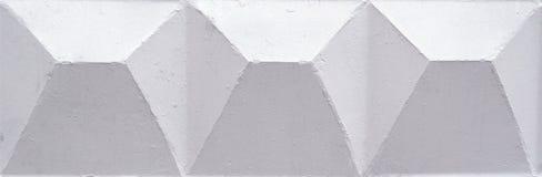 Il bianco dipinto ha quadrato il fondo Struttura, modello fotografia stock