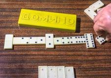 Il bianco disossa il gioco di domino Fotografia Stock Libera da Diritti