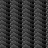 Il bianco ha protetto le linee senza cuciture modello geometrico senza cuciture di pendenza dell'onda su fondo nero Fotografie Stock