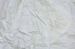 Il bianco ha sgualcito la superficie in bianco di carta del fondo Vista superiore della pittura della copertina di libro dei past Immagine Stock