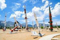 Il bianco insabbia il museo della gamma di missile Immagine Stock Libera da Diritti