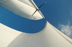 Il bianco naviga il frow qui sotto Fotografia Stock Libera da Diritti