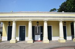 Il Biblioteca situato in Taipa, Macao immagini stock libere da diritti