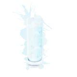 Il bicchiere d'acqua con spruzza Fotografia Stock Libera da Diritti