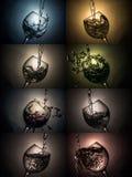 Il bicchiere d'acqua o il vino immagini stock libere da diritti