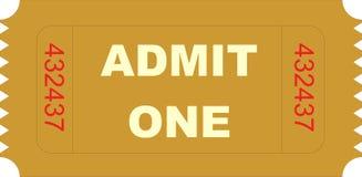 Il biglietto ammette uno illustrazione vettoriale