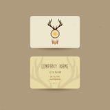 Il biglietto da visita per stile etnico, può essere usatci noi invito del partito o biglietti da visita del negozio di boho, illu Fotografie Stock
