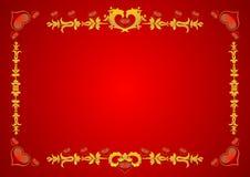 Il biglietto di S. Valentino elegante invita Immagini Stock Libere da Diritti