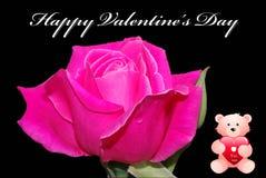 Il biglietto di S. Valentino felice \ 'il giorno di s sono aumentato Fotografie Stock Libere da Diritti