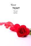 Il biglietto di S. Valentino rosso è aumentato Fotografia Stock Libera da Diritti