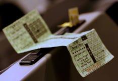 Il biglietto di treno immagini stock libere da diritti