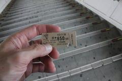 Il biglietto per il viaggio al Giappone, è un genere di biglietto di treno immagini stock libere da diritti