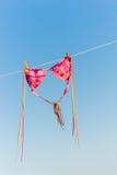 Il bikini sta asciugandosi su una riga Fotografia Stock Libera da Diritti