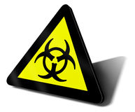 Il bio- pericolo di rischio del segnale di pericolo Fotografia Stock Libera da Diritti
