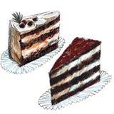 Il biscotto dell'illustrazione del quadro televisivo di Digital agglutina gli oggetti isolati variopinti su fondo bianco per la p illustrazione di stock