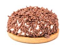 Il biscotto della caramella gommosa e molle con cioccolato spruzza Fotografie Stock Libere da Diritti