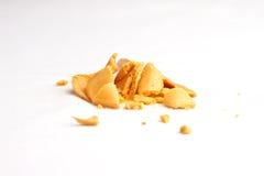 Il biscotto di fortuna ha fracassato Fotografia Stock
