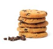 Il biscotto di pepita di cioccolato ha isolato Fotografia Stock