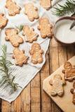 Il biscotto di zucchero casalingo divertente Immagini Stock Libere da Diritti