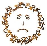 Il biscotto segna la struttura con lettere Immagini Stock