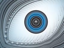 œil bleu abstrait illustration de vecteur