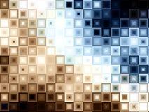 Il blocchetto del Brown blu copre di tegoli i quadrati Fotografia Stock Libera da Diritti