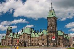 Il blocchetto del centro è la costruzione principale, Ottawa Fotografia Stock Libera da Diritti