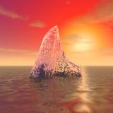 Il blocco di ghiaccio misterioso Fotografie Stock