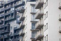 il blocco ha costruito recentemente gli appartamenti Fotografia Stock Libera da Diritti