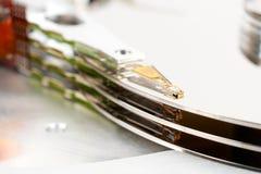Il blocco legge la testa di azionamento magnetica del disco rigido Immagine Stock