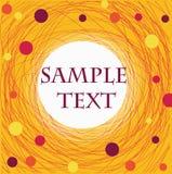 Il blocco per grafici del filetto del mulinello nel colore giallo Fotografie Stock Libere da Diritti