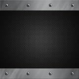 Il blocco per grafici di alluminio si è serrato ad una fibra grigia del carbonio Immagini Stock