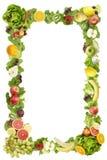 Il blocco per grafici fatto delle frutta e delle verdure Immagini Stock Libere da Diritti