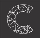 Il blockchain di poligonal di iniziali di C ed il triangolo geometrico incatenano il logo Fotografia Stock Libera da Diritti