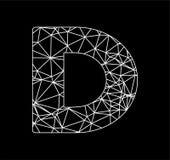 Il blockchain di poligonal di iniziali di D ed il triangolo geometrico incatenano il logo Immagine Stock Libera da Diritti