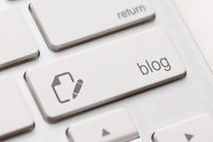 Il blog entra nella chiave Immagini Stock