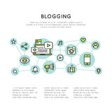 Il blog invia il processo della creazione Fotografia Stock