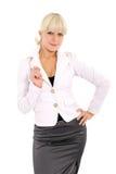Il blonde sicuro immagine stock libera da diritti