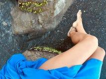 Il blu è il mio colore favorito fotografia stock libera da diritti