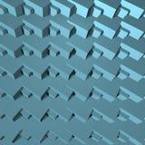 Il blu astratto 3D blocca la geometria Fotografia Stock