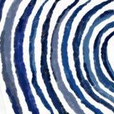 Il blu astratto ondeggia l'illustrazione Fotografia Stock Libera da Diritti