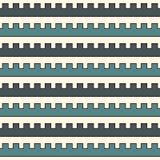 Il blu colora il modello senza cuciture con le linee curve merlo Figure geometriche ripetute carta da parati Superficie moderna royalty illustrazione gratis