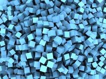 Il blu cuba il caos illustrazione di stock