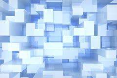 Il blu cuba il fondo Immagine Stock Libera da Diritti