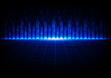 Il blu dell'estratto con il circuito e la linea la tecnologia progettano Fotografia Stock